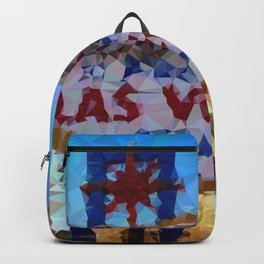 Geometric Las Vegas Sign Backpack