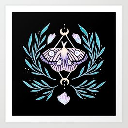 Moon Moth 01 Art Print