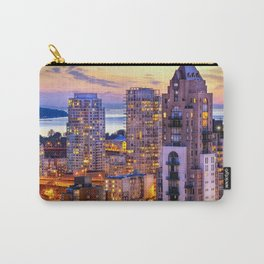 Yaletown Voyeuristic 0361 Vancouver Cityscape View English Bay British Columbia Canada Sunset Travel Carry-All Pouch