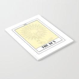 the sun tarot card Notebook
