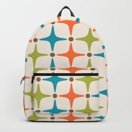Mid Century Modern Star Pattern 821 Backpack