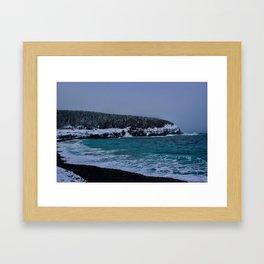 Saltwater Winter Framed Art Print