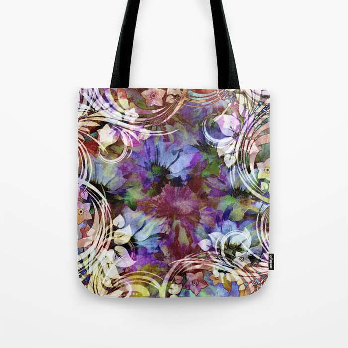 Fancy Midnight Floral Tote Bag