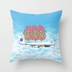 Happy Plane Throw Pillow
