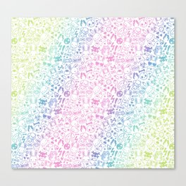 Tainted Sweets Confetti Canvas Print