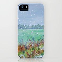 Snowing iPhone Case