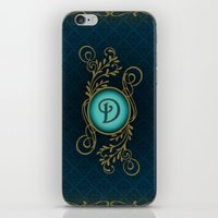 monogram iPhone & iPod Skins featuring Monogram D by Britta Glodde