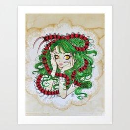 Centipede Maiden Art Print