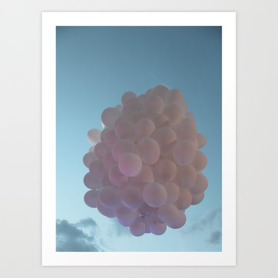 up up and away - balloons Art Print
