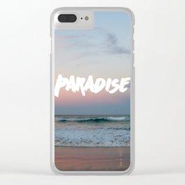 Paradise on the beach Clear iPhone Case