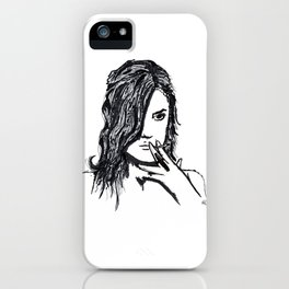 Girls don't cry iPhone Case