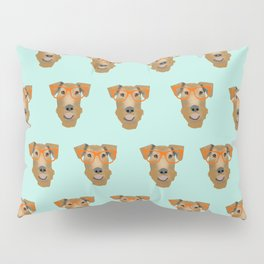 Airedale Glasses airedale dog print airedale pillow dog pattern Pillow Sham