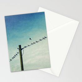 stepping out of line Stationery Cards