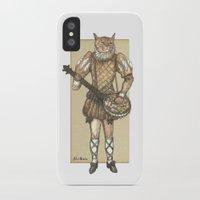banjo iPhone & iPod Cases featuring Banjo Cat by Felis Simha