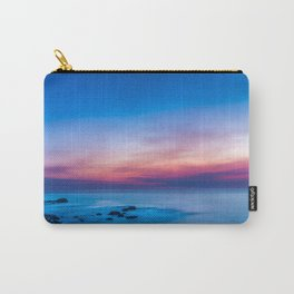 Sunset long exposure over the ocean Carry-All Pouch