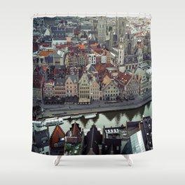 Belgium's Historic town Shower Curtain