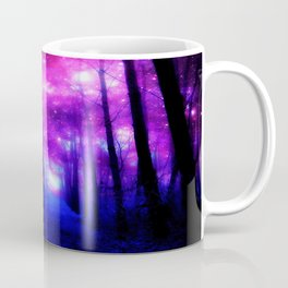 Magical Forest Path Fuchsia Purple Blue Coffee Mug