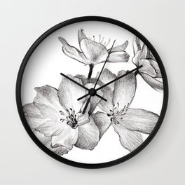 Flower sketch bouquet hand drawing Wall Clock
