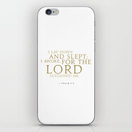 Psalm 3:5 Bible Verse - White Gold iPhone Skin