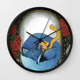 The little prince - Blue Version Wall Clock
