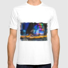 A colorful town MEDIUM White Mens Fitted Tee