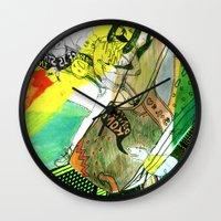 donkey kong Wall Clocks featuring I WILL DEFEAT DONKEY KONG by Samantha Chiusolo