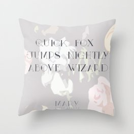 Mary Pangram Throw Pillow