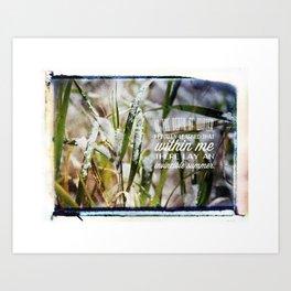 Invincible Summer. Art Print
