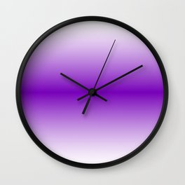 Violet Horizon Gradient Wall Clock
