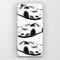 porsche iPhone & iPod Skins featuring Arctic Porsche by deadfish
