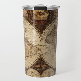 Vintage Map of the World Travel Mug