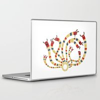 hydra Laptop & iPad Skins featuring LERNAEAN HYDRA by Villie Karabatzia