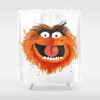 animal crew Shower Curtains featuring Animal by Cookstar