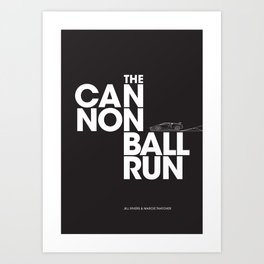 The Cannonball Run - Lamborghini Countach Art Print