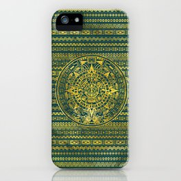 Gold  Aztec Inca Mayan Calendar iPhone Case