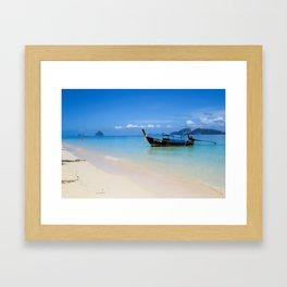 Thailand longboat Framed Art Print