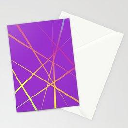 Laser Light Show - Purple Stationery Cards