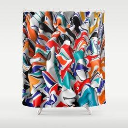 Trippy Pop Fluid II Shower Curtain
