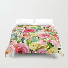 Floral Garden Collage Duvet Cover