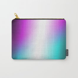 Vibrant Turquoise and Magenta Gradient Carry-All Pouch