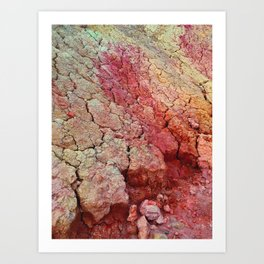 Red Clay Cliffs Art Print