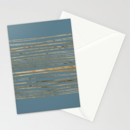Blueprint and Golden Stripes Stationery Cards