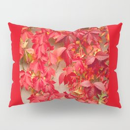 Vitaceae ivy wall abstract Pillow Sham