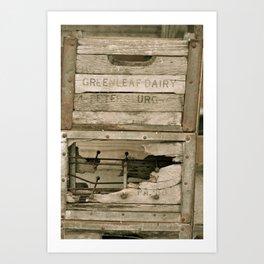 Dairy Crate Art Print