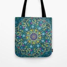 Turquoise swirl Tote Bag