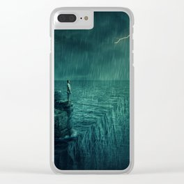 At the edge of Nothing Clear iPhone Case