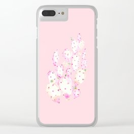 Prickly Pink Cactus Clear iPhone Case