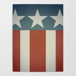 Three Starred Spangle Banner Poster