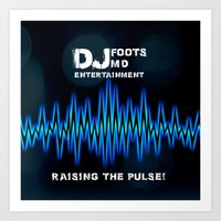 DJ Foots MD Entertainment Art Print