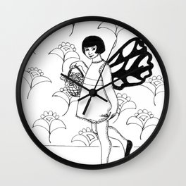 Fairy With Basket Wall Clock